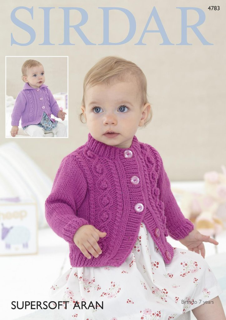 Sirdar 4783 Knitting Pattern Baby Chiildrens Cardigans in Sirdar ...