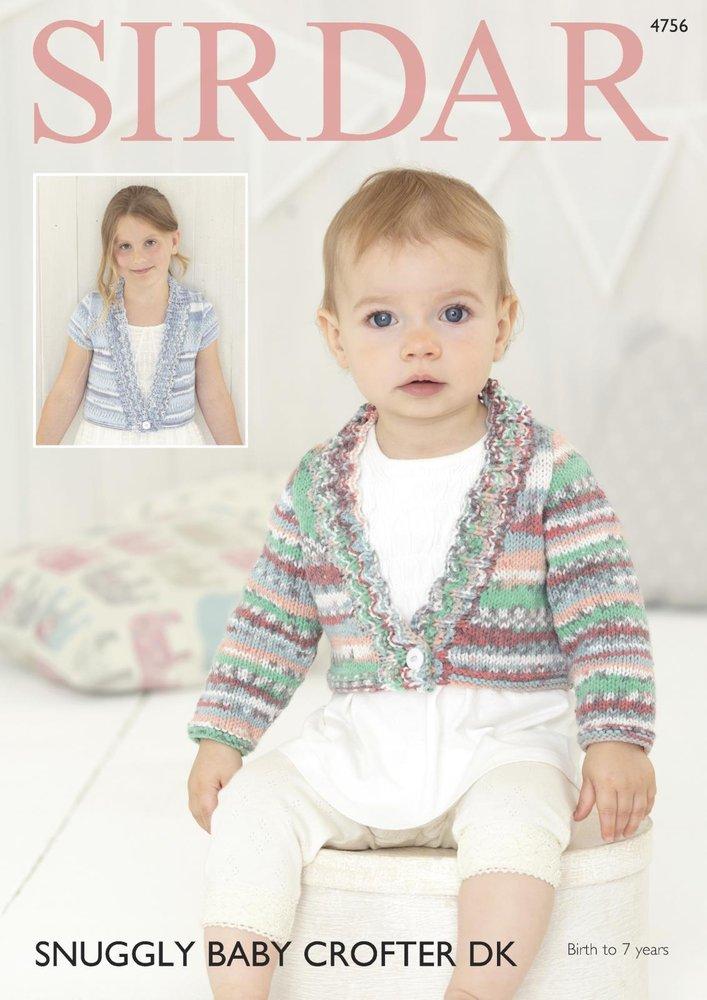fd562da06714 Sirdar 4756 Knitting Pattern Baby   Girls Cardigans in Sirdar ...