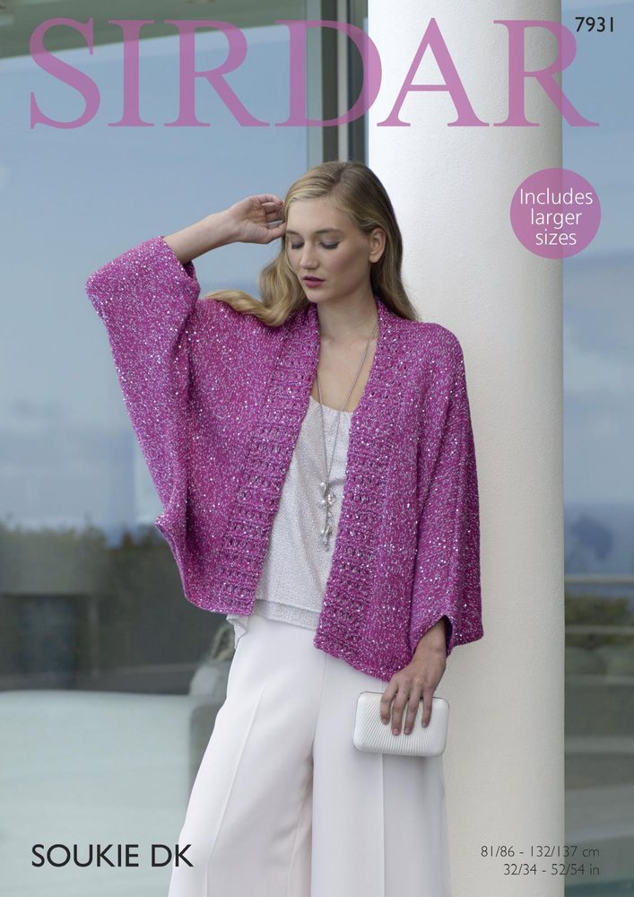 Sirdar 7931 Knitting Pattern Womens Kimono Style Jacket in Sirdar ...