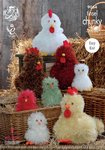 King Cole 9064 Knitting Pattern Easy Knit Easter Toy Hens and Chicks in Tinsel Chunky