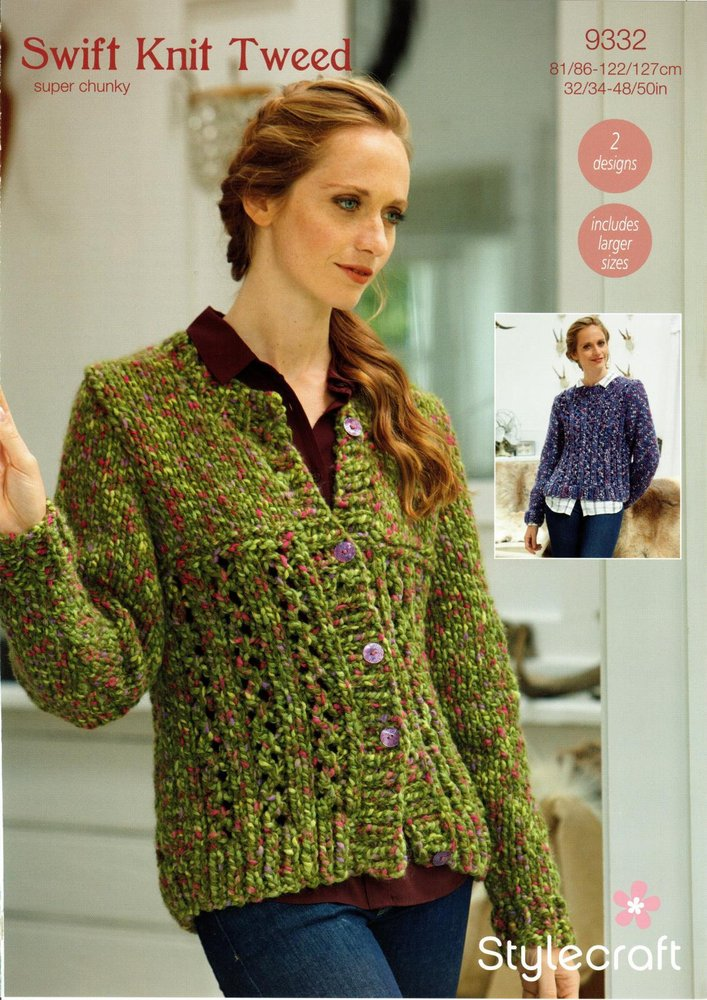 Stylecraft 9332 Knitting Pattern Womens Cardigan and Sweater in ...