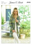 James C Brett JB438 Knitting Pattern Womens Long Cardigan / Jacket in James C Brett Marble Chunky