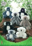 King Cole 9058 Knitting Pattern Toy Koala in King Cole Luxe Fur & Big Value Aran