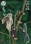 King Cole Prime8 Knitting Pattern Chimpanzee Toys in King Cole Luxe Fur & Pricewise DK