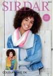 Sirdar 8034 Knitting Pattern Womens Easy Knit Snood and Scarf in Sirdar Colourwheel DK