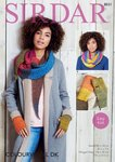 Sirdar 8031 Knitting Pattern Womens Easy Knit Snood Wrap and Mitts in Sirdar Colourwheel DK
