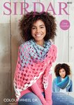 Sirdar 8030 Crochet Pattern Womens Easy Crochet Snood and Shawl in Sirdar Colourwheel DK