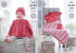 King Cole 4912 Knitting Pattern Baby Easy Knit Jacket Hat & Blanket in Cherish & Cherished DK