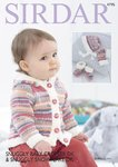Sirdar 4795 Knitting Pattern Jacket Mittens Bootees and Bonnet in Sirdar Snuggly Baby Crofter DK
