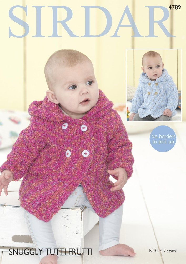Sirdar 4789 Knitting Pattern Baby Chiildrens Hooded Jacket In Sirdar