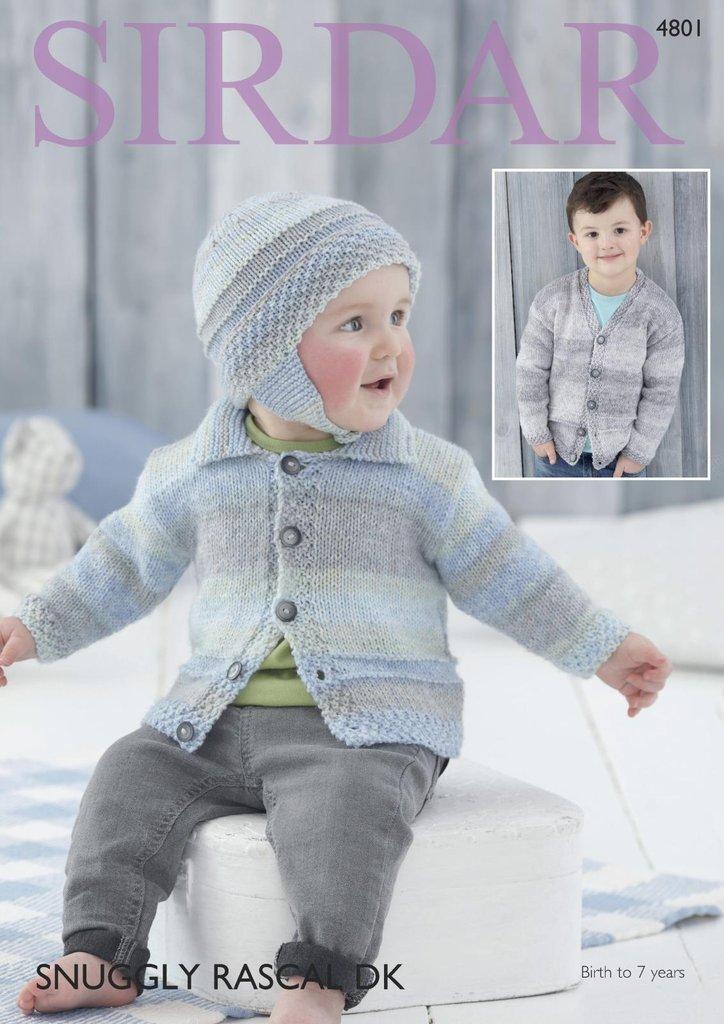 Sirdar 4801 Knitting Pattern Baby Childrens Easy Knit Cardigan ...