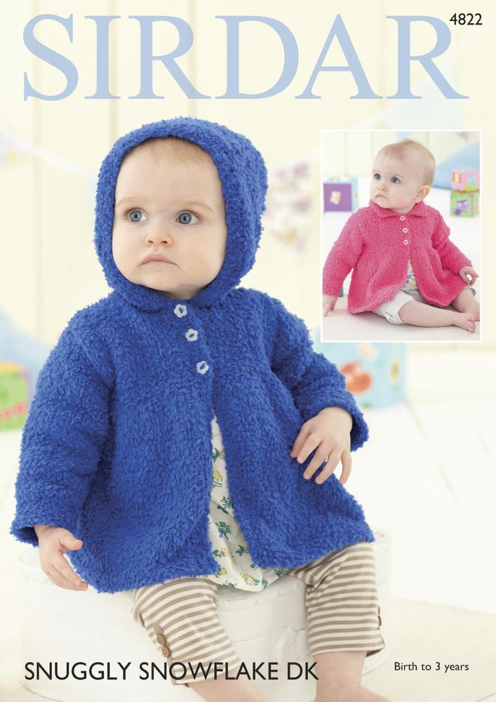Sirdar 4822 Knitting Pattern Baby Collared and Hooded Jackets in ...