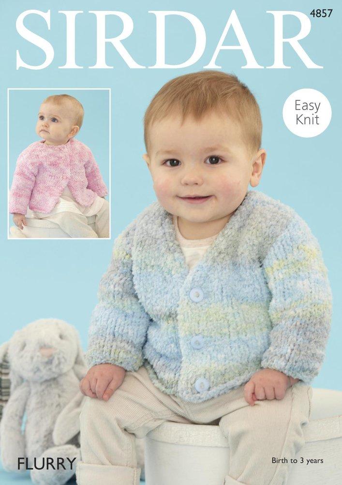 Sirdar 4857 Knitting Pattern Baby Easy Knit Round and V Neck ...
