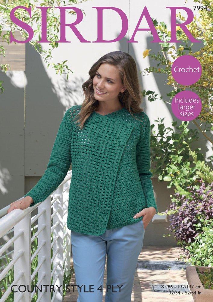 Sirdar 7994 Crochet Pattern Womens Jacket In Sirdar Country Style 4