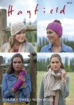 Sirdar 8023 Knitting Pattern Womens Hats Scarf and Wrist Warmers in Hayfield Chunky Tweed with Wool