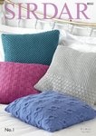 Sirdar 8050 Knitting Pattern Patterned Cushion Covers in Sirdar No. 1 DK