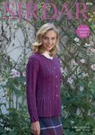 Sirdar 8046 Knitting Pattern Womens Round Neck Cable Cardigan in Sirdar No. 1 DK