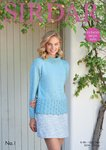 Sirdar 8049 Knitting Pattern Womens Roll Neck Sweater in Sirdar No. 1 DK