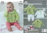 King Cole 4845 Knitting Pattern Baby Hoody Jacket and Matinee Coat in Big Value Baby Soft Chunky