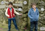 King Cole 4924 Knitting Pattern Childrens Jacket and Hoodie in King Cole Majestic DK