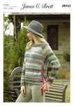 James C Brett JB453 Knitting Pattern Womens Sweater in James C Brett Marble Chunky