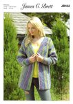 James C Brett JB462 Knitting Pattern Womens Jacket in James C Brett Marble Chunky