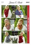 James C Brett JB461 Knitting Pattern Scarves Wrap and Hat - 1 Ball Projects in Marble Chunky