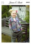 James C Brett JB455 Knitting Pattern Girls Collared Cardigan in James C Brett Marble Chunky