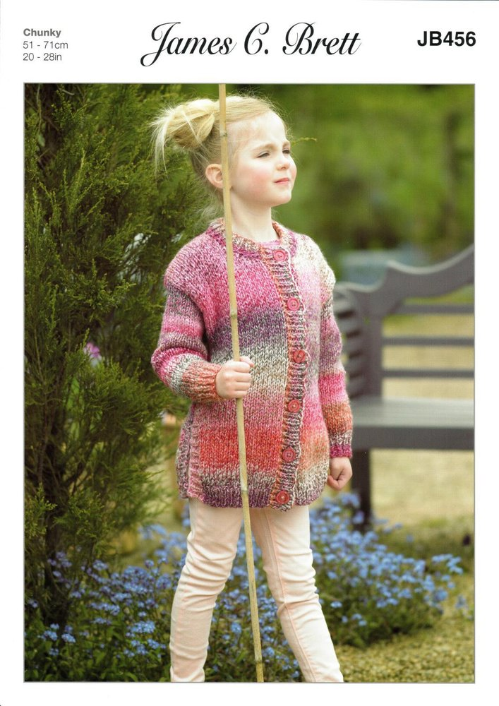 750e334d93631 ... Sweater Knitting Pattern in Chunky with  sleek 96eb1 1272f James C Brett  JB456 Knitting Pattern Girls Tunic and Jacket in James C ...