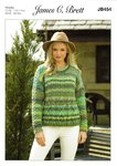 James C Brett JB454 Knitting Pattern Womens Cable Detail Sweater in James C Brett Marble Chunky
