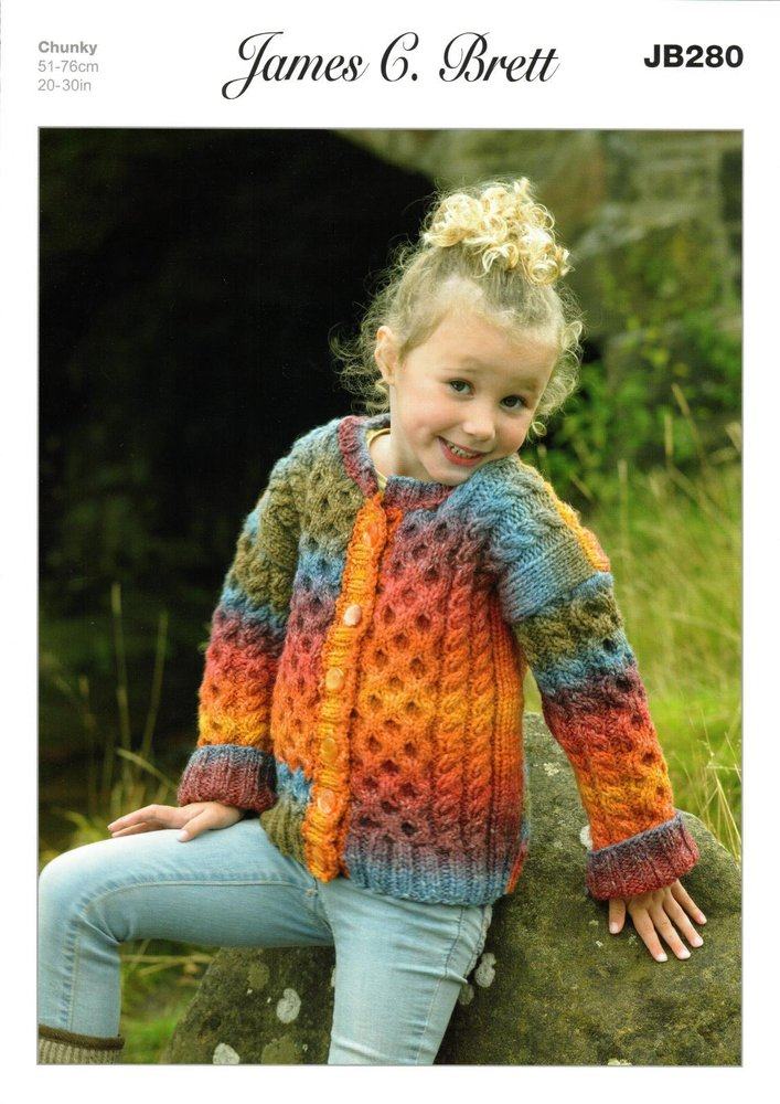 9c7156cff6b36 James C. Brett JB280 Knitting Pattern Childrens Jacket   Cardigan in  Lakeland Chunky - Athenbys
