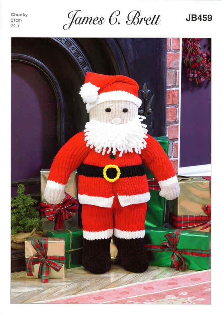 James C Brett Jb459 Knitting Pattern Santa Toy In Flutterby Chunky