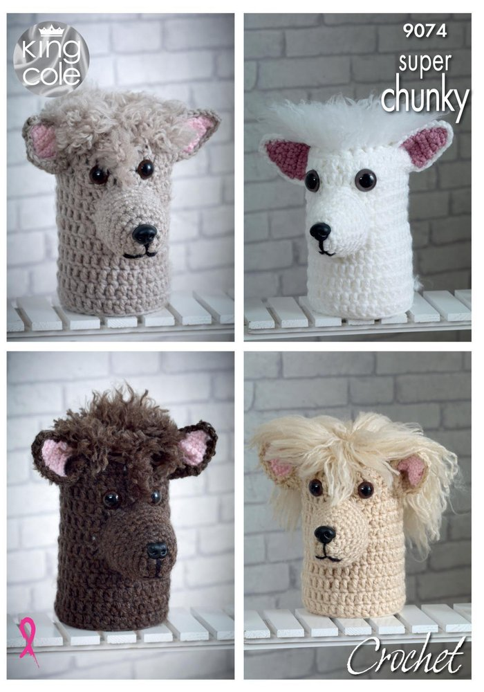 King Cole 9074 Crochet Pattern Andre The Alpaca Toilet Roll Cover ...