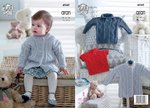 King Cole 4949 Knitting Pattern Baby Childrens Coat and Sweaters in King Cole Comfort Aran