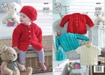 King Cole 4947 Knitting Pattern Baby Childrens Cardigan Jacket and Hat in King Cole Comfort Aran
