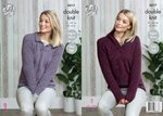 King Cole 5017 Knitting Pattern Womens Collared and Hooded Sweaters in King Cole Panache DK
