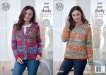 King Cole 5030 Knitting Pattern Womens Cardigan & Sweater in King Cole Big Value Super Chunky Tints