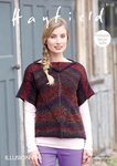 Sirdar 8110 Knitting Pattern Womens Slash Neck Top in Hayfield Illusion DK