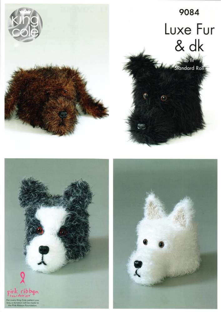 King Cole 9084 Knitting Pattern Dog Toilet Roll Covers in King Cole ...