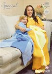 Stylecraft 9490 Knitting Pattern Womens Girls Princess Blankets in Stylecraft Special Chunky