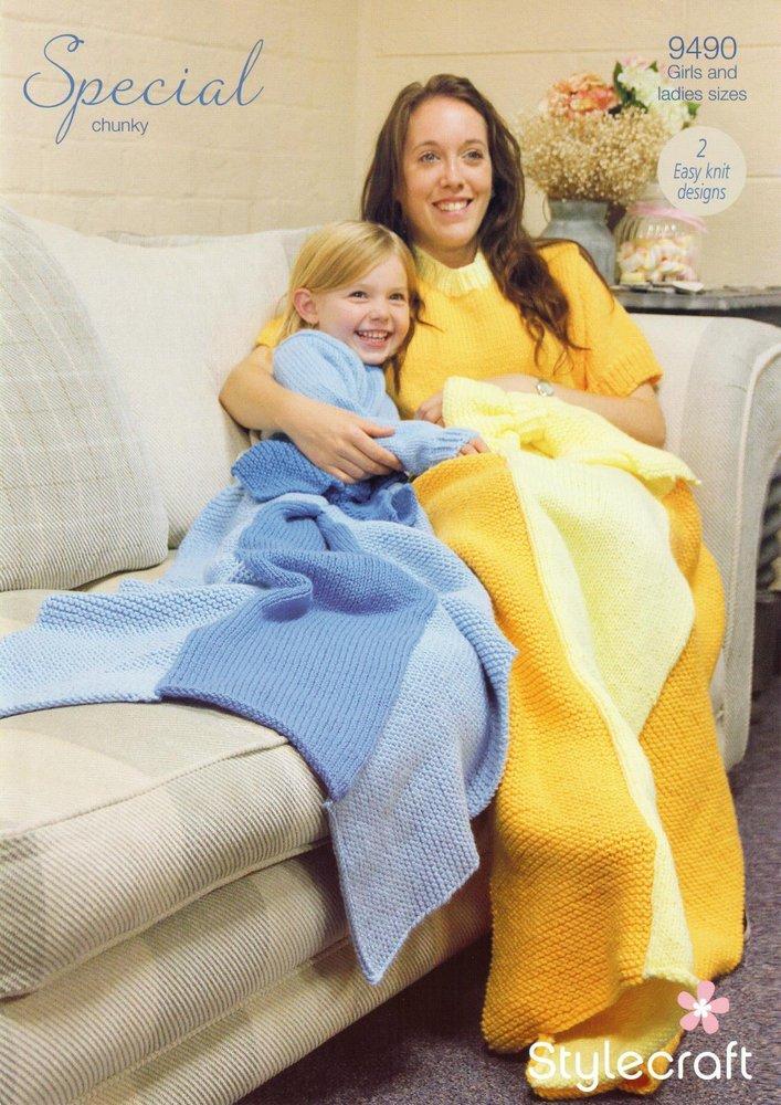 Stylecraft 9490 Knitting Pattern Womens Girls Princess Blankets In