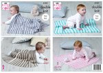 King Cole 5101 Knitting Pattern Easy Knit Baby Blankets in King Cole Cottonsoft Baby Crush DK