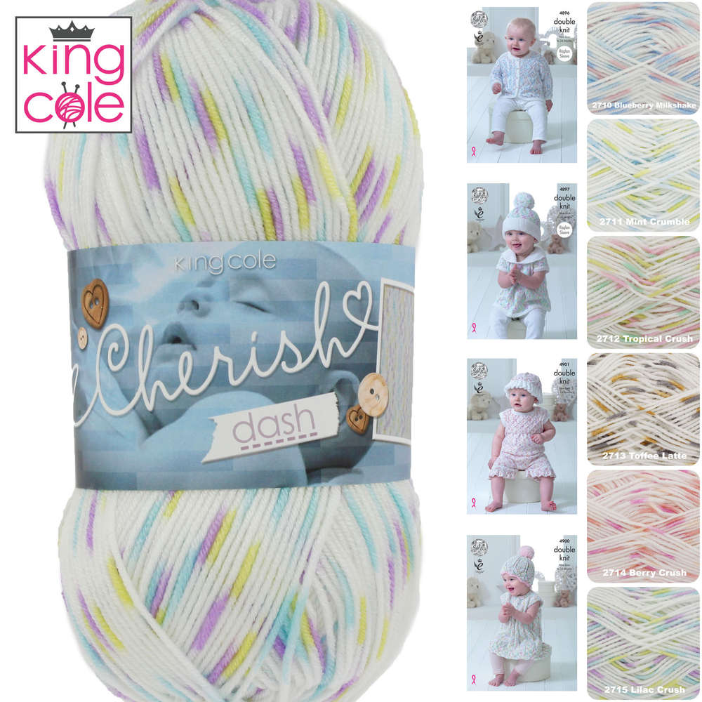 ed7bab218 King Cole Cherish Dash DK Self Patterning Knitting Yarn