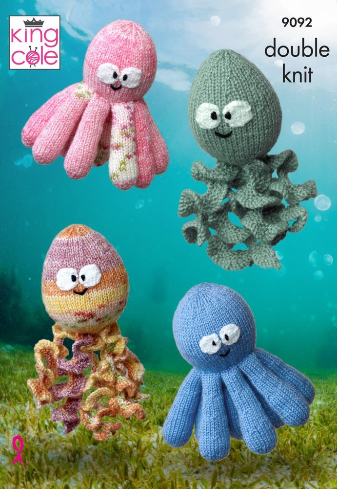 King Cole 9092 Knitting Pattern Octopus and Squid Toys in King Cole ...