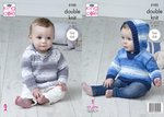 King Cole 5103 Knitting Pattern Baby Hooded and Collared Sweaters in Cottonsoft Baby Crush DK