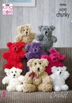 King Cole 9096 Crochet Pattern Teddy Bear Toy in King Cole Tufty & Big Value Super Chunky