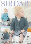 Sirdar 4890 Knitting Pattern Baby and Child Sweater & Cardigan in Sirdar Snuggly Baby Bamboo DK