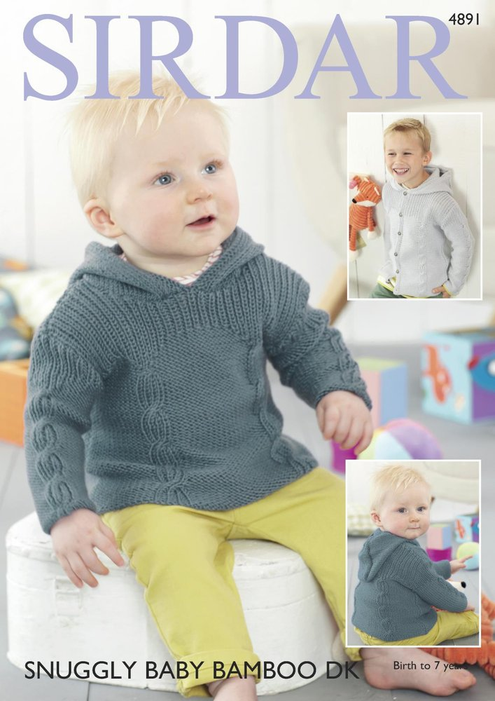 Sirdar 4891 Knitting Pattern Baby and Child Hooded Sweater & Jacket ...
