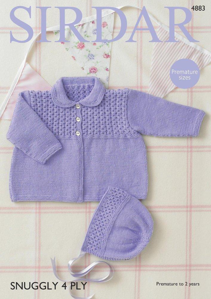 Sirdar 4883 Knitting Pattern Baby Girls Coat and Bonnet in Sirdar ...