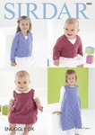 Sirdar 4881 Knitting Pattern Baby and Child Cardigan and Pinafore in Sirdar Snuggly DK